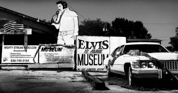 Elvis Poster featuring the photograph Elvis Is Alive Museum by Todd Fox