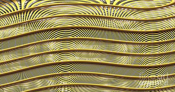 Grate Poster featuring the digital art Grate Of Yellow by Ron Bissett