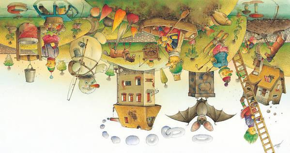 Dream Sleep Poster featuring the painting Lisas Journey12 by Kestutis Kasparavicius