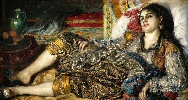 1870 Poster featuring the photograph Renoir: Odalisque, 1870 by Granger