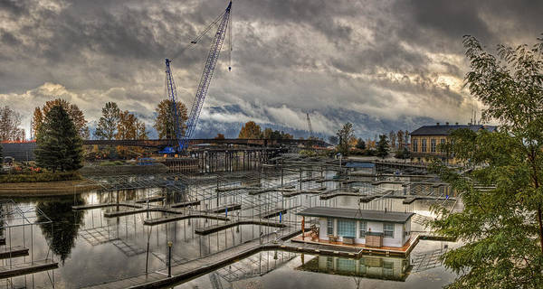 Poster featuring the photograph Sandpoint Marina 2 by Lee Santa