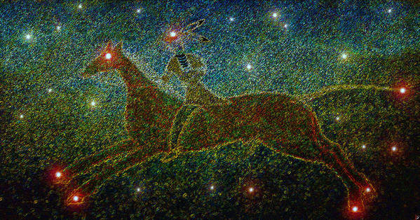 Art Poster featuring the painting Star Rider by David Lee Thompson