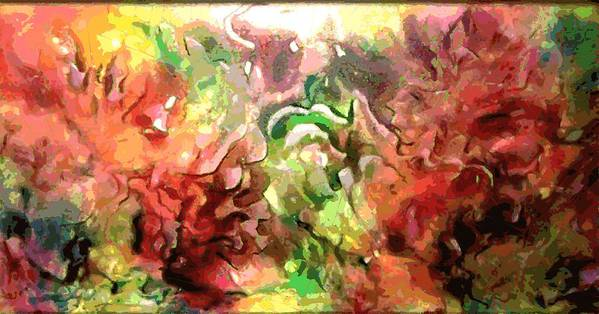 Original Abstract Poster featuring the painting The Colors Of Paradise by Hengameh Kaghazchi