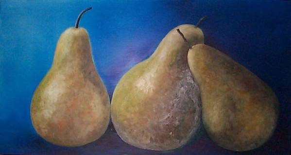 Pears Poster featuring the painting The Famous Pears by Marina Owens