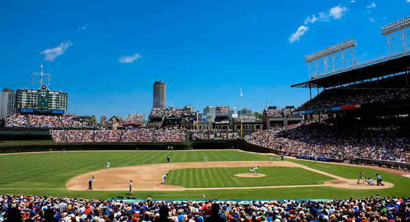 Cubs Poster featuring the photograph Day Game At Wrigley Field by Anthony Doudt