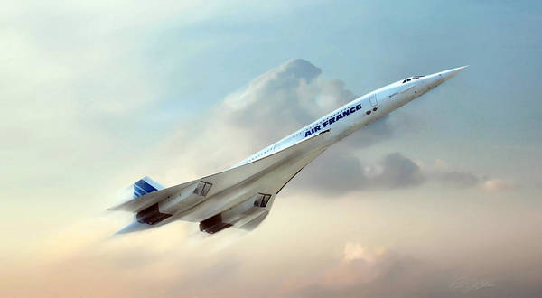 Concorde Poster featuring the digital art Days Of Future Passed by Peter Chilelli
