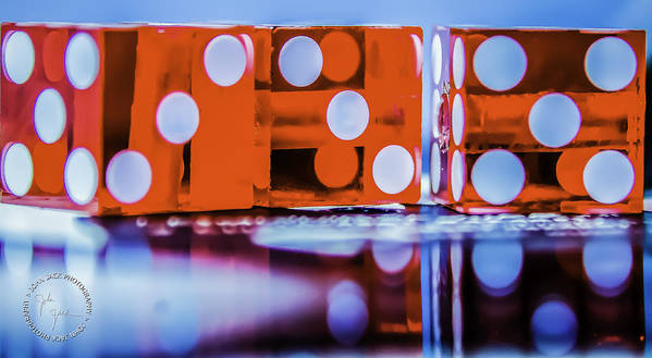 Dice Poster featuring the photograph Dice Reflections by John Jack