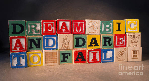 Dream Big And Dare To Fail Poster featuring the photograph Dream Big And Dare To Fail by Art Whitton