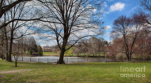 Haverford College Poster featuring the photograph Duck Pond Haverford College by Kay Pickens