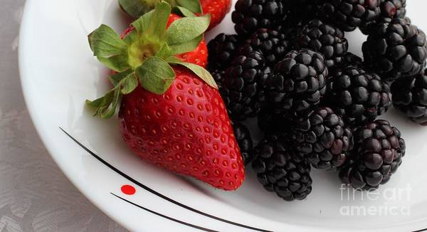 Fruit Poster featuring the photograph Fruit II - Strawberries - Blackberries by Barbara Griffin