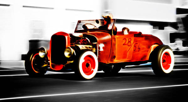 Ford Hot Rod Poster featuring the photograph Red Riding Rod by Phil 'motography' Clark