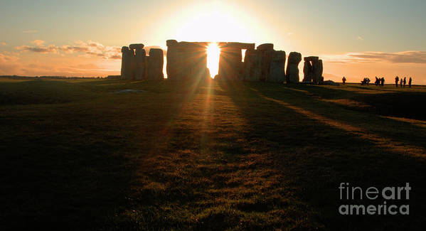 England Poster featuring the photograph Sunset At Stonehenge 4 by Deborah Smolinske