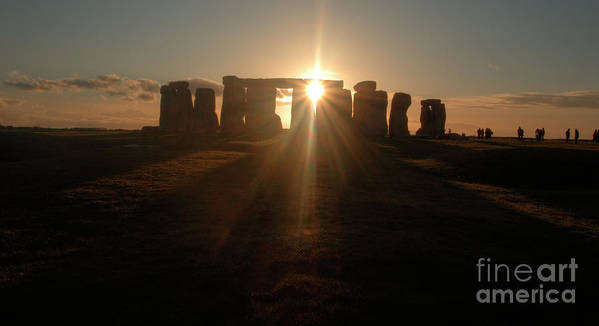 England Poster featuring the photograph Sunset At Stonehenge 6 by Deborah Smolinske