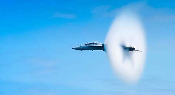 F18 Poster featuring the photograph Super Sonic by Sebastian Musial