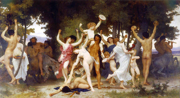 The Youth Of Bacchus Poster featuring the painting The Youth Of Bacchus by William-Adolphe Bouguereau