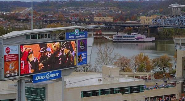 View Of Cincinnati Poster featuring the photograph View Of Cincinnati by Dan Sproul