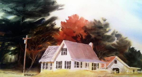 Farm Poster featuring the painting Doc's Place by Don F Bradford