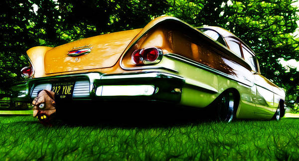 Chevrolet Poster featuring the photograph 1958 Chevrolet Delray by Phil 'motography' Clark