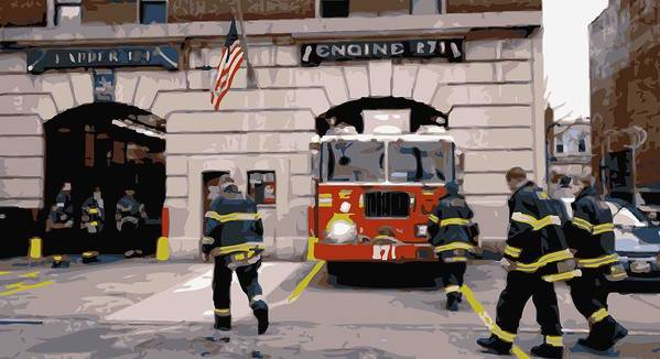 Firehouse Poster featuring the photograph Firehouse Color 16 by Scott Kelley