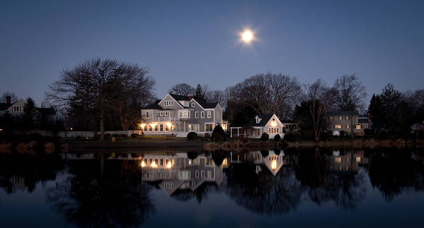 Full Moon Poster featuring the photograph Full Moon Over Babylon by Vicki Jauron