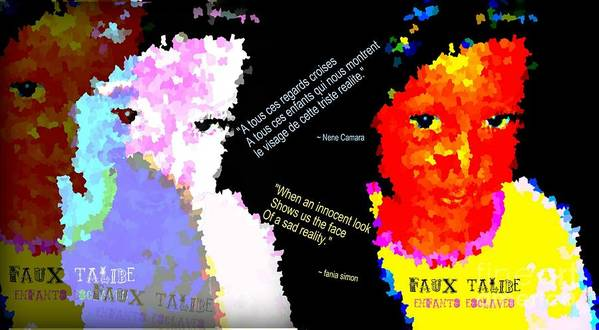 Fania Simon Poster featuring the mixed media Google The Word - Talibe by Fania Simon