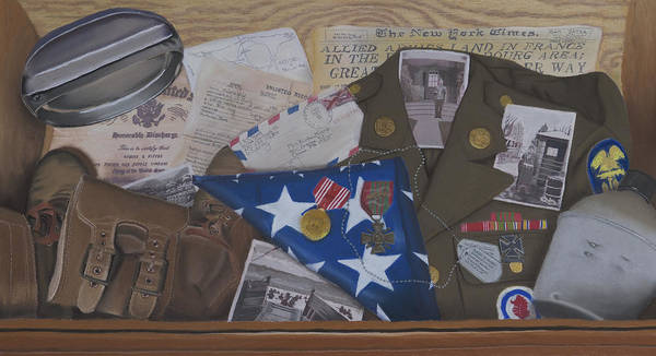 Military Poster featuring the painting Hidden Memories by Kym Nippes