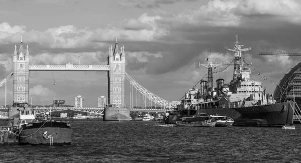 Dawn Oconnor Dawnoconnorphotos@gmail.com Poster featuring the photograph Hms Belfast And Tower Bridge by Dawn OConnor