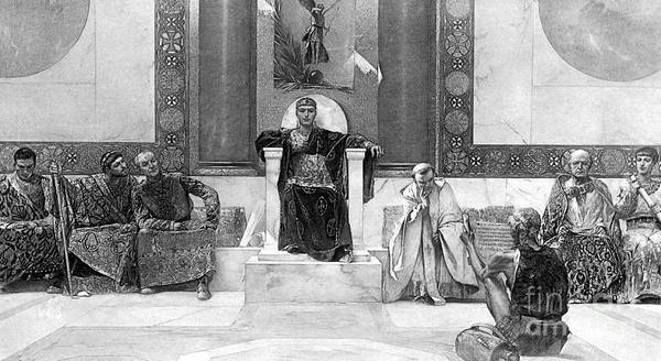 6th Century Poster featuring the photograph Justinian I (483-565) by Granger