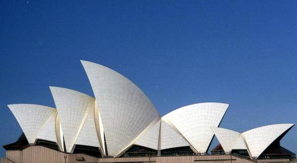Opera House Poster featuring the photograph Opera Fins by Robert M Brown II