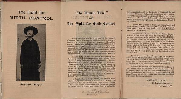 History Poster featuring the photograph The Fight For Birth Control, A Pamphlet by Everett
