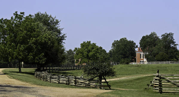 Appomattox Poster featuring the photograph View Of Appomattox Courthouse 2 by Teresa Mucha