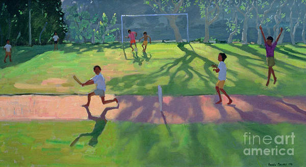 Game Poster featuring the painting Cricket Sri Lanka by Andrew Macara