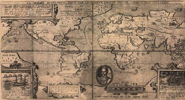 History Poster featuring the photograph 1581 Map By Nicola Van Sype, Showing by Everett