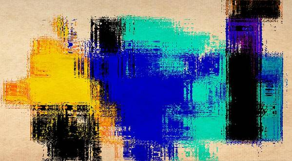 Abstract Poster featuring the painting Abstract For2 by Rene Avalos