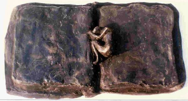 Bronze Poster featuring the sculpture An Unfinished Story by Rooma Mehra