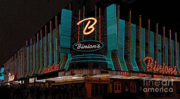 Art Poster featuring the painting Binions Vegas by David Lee Thompson