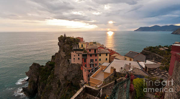 Manarola Poster featuring the photograph Cinque Terre Tranquility by Mike Reid