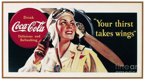 1941 Poster featuring the photograph Coca-cola Ad, 1941 by Granger