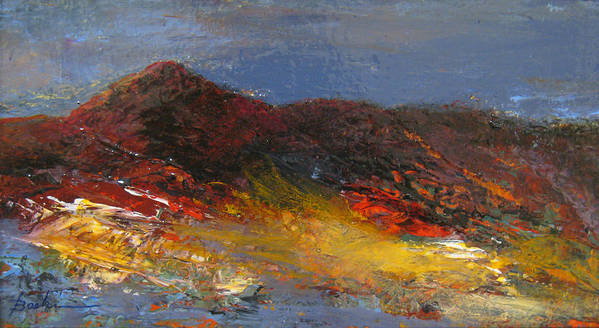 Mountain Poster featuring the painting Colorado Glow by Marie Baehr