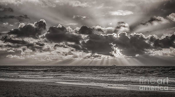 Dutch Poster featuring the photograph Dramatic Dutch Coast by Alex Hiemstra