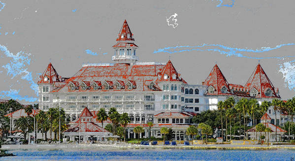 Art Poster featuring the painting Grand Floridian In Summer by David Lee Thompson