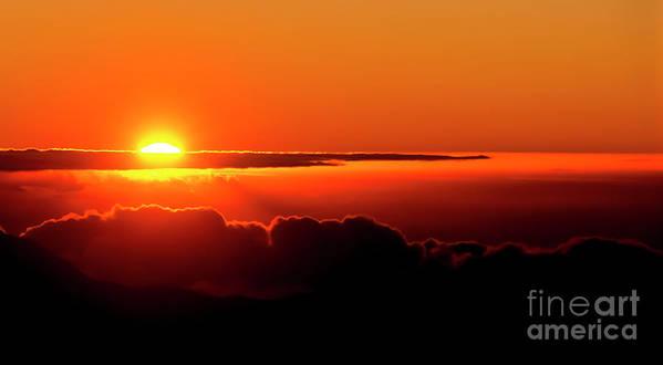 Sunrise Poster featuring the photograph Maui Hawaii Haleakala National Park Sunrise IIi by Jim Cazel