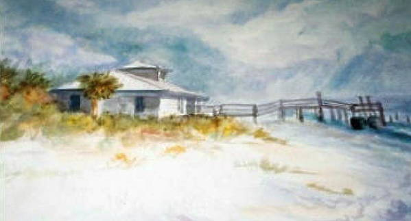Honeymoon Poster featuring the painting Honeymoon Island by Ruth Mabee