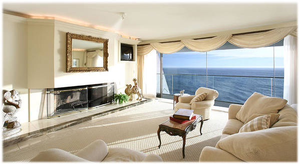 Living Room Architectural Photography Poster featuring the photograph Living Room by Panos Trivoulides
