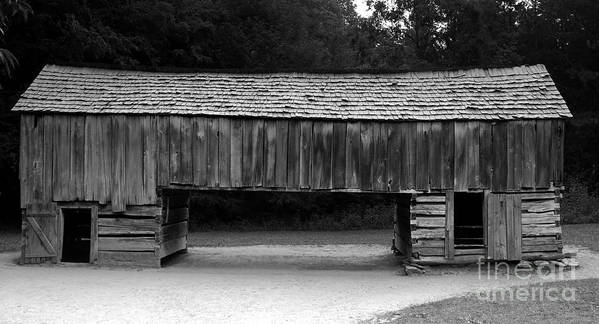 Barn Poster featuring the photograph Long Barn by David Lee Thompson
