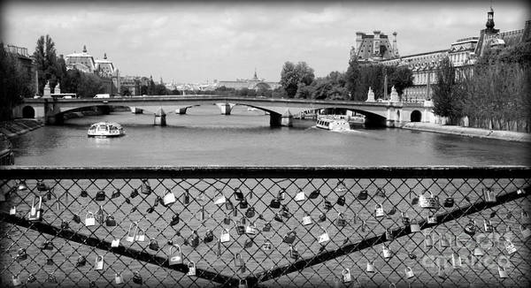 Locks Poster featuring the photograph Love Locks Over The Seine by Carol Groenen