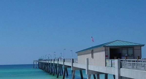 Pier Poster featuring the photograph Ocean Pier by Greg Brandt