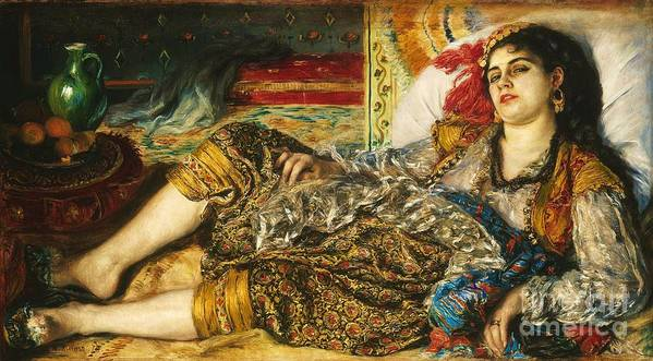 Pd Poster featuring the painting Odalisque by Pg Reproductions