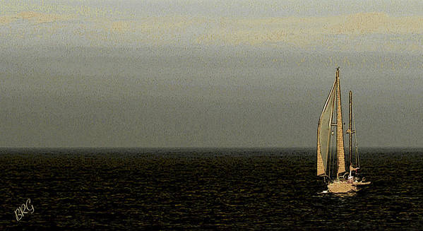 Sailboat Poster featuring the photograph Sailing by Ben and Raisa Gertsberg