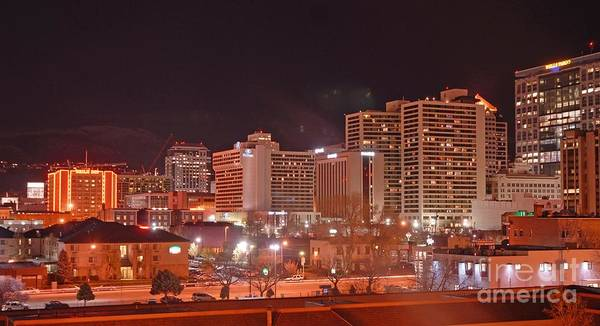 Salt Lake City Poster featuring the photograph Salt Lake City Utah by Dennis Hammer